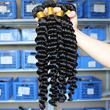 Eurázsiai haj Hair Vetülék, zárral Mély hullám Póthajak 4 darab