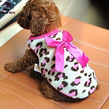 Kot Pies T-shirt Ubrania dla psów Codzienne Kokarda Czerwony Różowy Kostium Dla zwierząt domowych