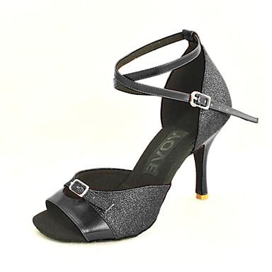 Προσαρμόσιμα - Λατινικοί/Salsa - Παπούτσια Χορού - με Προσαρμοσμένο τακούνι - από Δερματίνη - για Γυναικεία