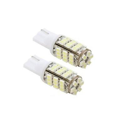 lorcoo ™ 2PCS 42smd T10의 12V가 교체 전구 + 스티커 주도 921 912 906 (흰색)