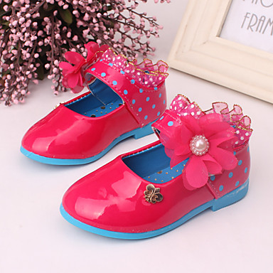 Παπούτσια για το μωρό - Μπαλαρίνες - Φόρεμα / Καθημερινά - Δέρμα - Ροζ / Κόκκινο / Μπορντώ