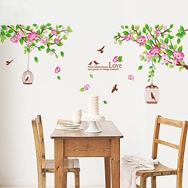 Landschaft Weihnachten Blumen Cartoon Design Botanisch Wand-Sticker Flugzeug-Wand Sticker Dekorative Wand Sticker, Vinyl Haus Dekoration