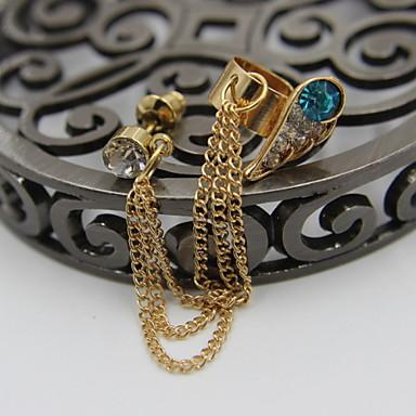 Damskie / Męskie Ear Piercing Stop / Kryształ górski / Posrebrzany Złoty / Srebrne Biżuteria,1szt