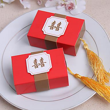 12 Шт./набор Фавор держатель-Кубический Картон Коробочки Сувенирные шкатулки Без персонализации