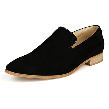 Men's Shoes Office & Career / Party & Evening / Casual Suede Loafers / Slip-on Black / Yellow / Green / Navy