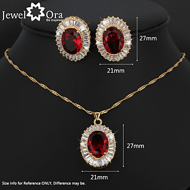 Women's Jewelry Set Cubic Zirconia Gold Plated Cross Vintage Cute Party Work Casual Elegant Party Earrings Necklaces Costume Jewelry