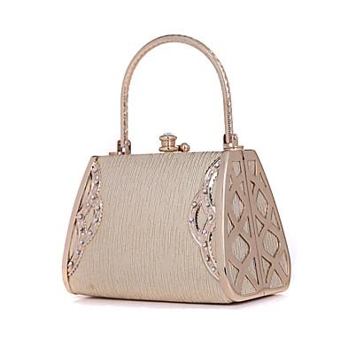 Γυναικείο Τσάντες Μέταλλο Βραδινή τσάντα Κρύσταλλο/Στρας για Γάμου Χρυσαφί