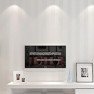 Stripe Home Decoration Contemporary Wall Covering, Non-woven Paper Material Adhesive required Wallpaper, Room Wallcovering
