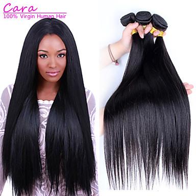 Brasilianisches Haar Glatt Unbehandeltes Haar Menschenhaar spinnt 3 Bündel 8-30Zoll Menschliches Haar Webarten 5a / Gerade