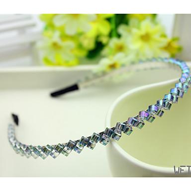 Südkorea importiert Haarnadel Strass Perlenschmuck Kopfband zweireihig Kristallhaarband lila