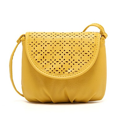 Women Bags PU leatherette Shoulder Bag for Casual Fall All Seasons Yellow