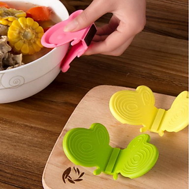 konyha gadget pillangó szilikon szigetelő klip / anti-hot klip / szilikon sütő mitt (színes random)