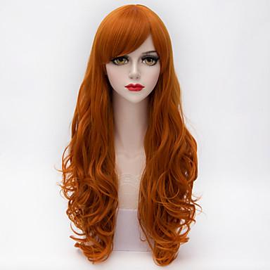 Συνθετικά μαλλιά Περούκες Σγουρά Χωρίς κάλυμμα Κόκκινο