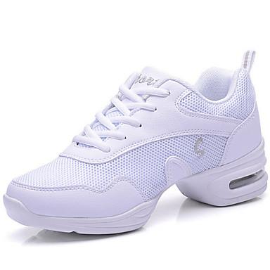 Kadın Modern Sentetik Spor Ayakkabı Dış Mekan Dantel Düşük Topuk Siyah ve Kırmızı Siyah Beyaz 5cm Kişiselletirilmemiş