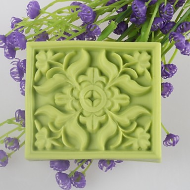 square Blume geformt Seifenformen mooncake Form-Fondant-Kuchen Schokoladensilikonform, Dekorationswerkzeuge Backformen