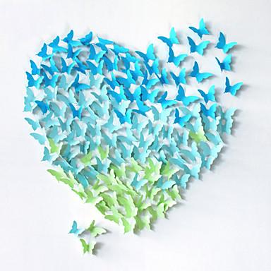 20pcs 3d πεταλούδα διακόσμηση αυτοκόλλητα τοίχου αυτοκόλλητα τοίχου γάμου