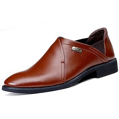 Miesten kengät Nahka Kevät Syksy Comfort Mokkasiinit varten Kausaliteetti Toimisto & ura Musta Ruskea