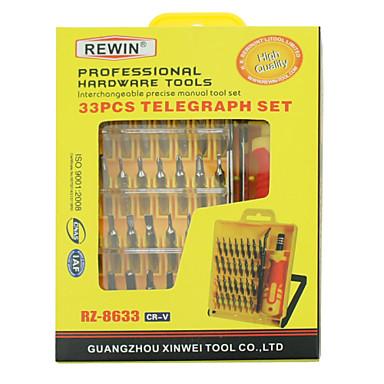 33pcs presisjon eletronic skrutrekker sett RZ-8633 rewin verktøy, håndverktøy sett