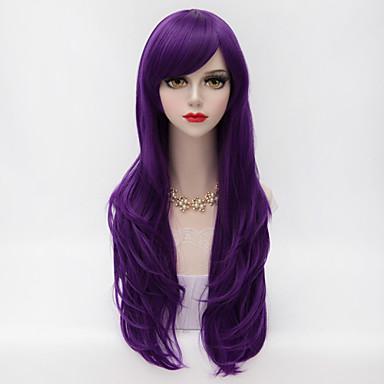 Synthetische Perücken Locken Wellen Damen Kappenlos Karnevalsperücke Halloween Perücke Lang Synthetische Haare