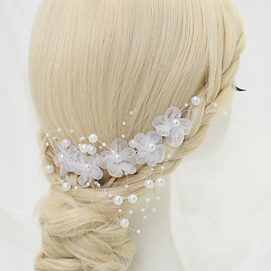 Imitation Pearl Headbands Flowers 1 Wedding Special Occasion Birthday Party / Evening Headpiece