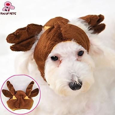 Kat / Hund Kostume / Drakter / Hodetørklær og hatter Hundeklær Brun Polar Fleece Kostume For kjæledyr Cosplay / Bryllup / Halloween