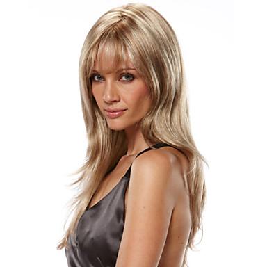 Kobieta Peruki syntetyczne Tkany maszynowo Proste Blonde Costume Peruki
