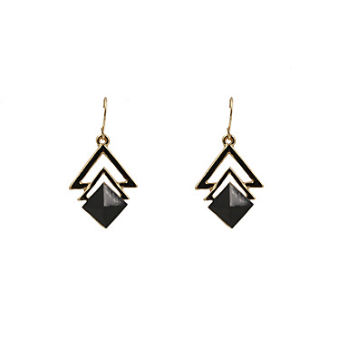 Damskie Kolczyki wiszące Luksusowy Żywica Imitacja diamentu Stop Biżuteria Black Beige Ślub Impreza Codzienny Casual Sport Biżuteria
