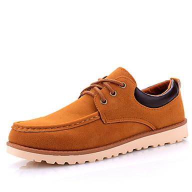 Férfi cipő Bőrutánzat Tavasz Nyár Ősz Tél Kényelmes Fűző Kompatibilitás Hétköznapi Fekete Kék Khakizöld