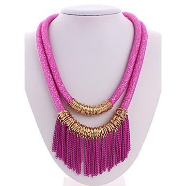 Mulheres Cristal Colares Declaração / colares em camadas - Borla, Europeu, Multi Camadas Cor Ecrã Colar Para