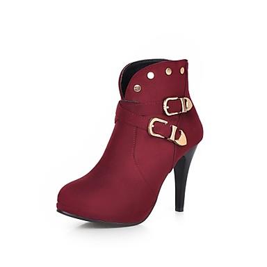 Γυναικεία παπούτσια - Μπότες - Φόρεμα / Καθημερινά - Τακούνι Στιλέτο - Στρογγυλή Μύτη / Μοντέρνες Μπότες - Φλις -Μαύρο / Ναυτικό Μπλε /