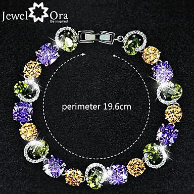 abordables Bracelet-Bracelet - en Zircon Cubique / Plaqué Or - Vintage / Mignon / Soirée / Travail / Décontracté - Lien / Chaîne
