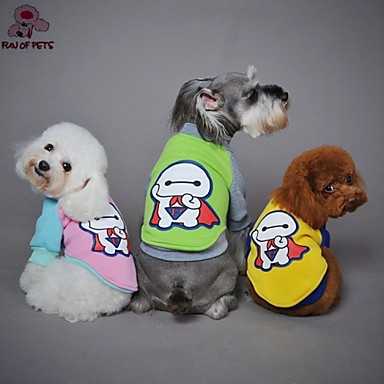 Cat / Dog Coat / Shirt / T-Shirt Red / Yellow / Green / Pink Dog Clothes Spring/Fall Cartoon Wedding / Cosplay