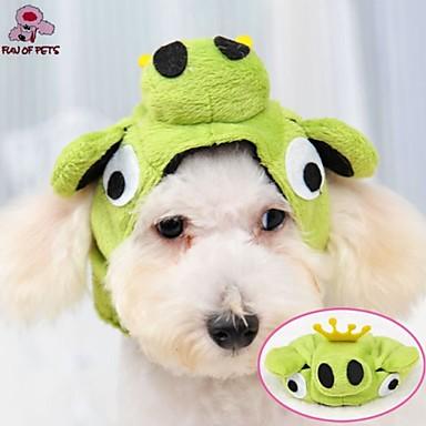 Chat Chien Costume Tenue Bandanas & Chapeaux Vêtements pour Chien Vert Polaire Costume Pour les animaux domestiques Cosplay Mariage