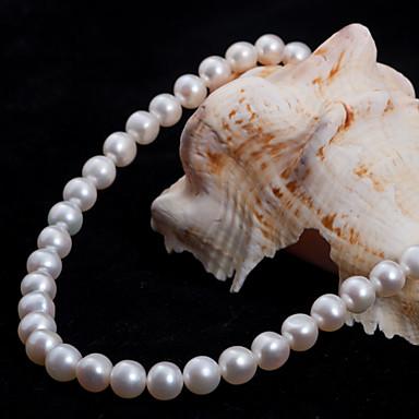 abordables Collier-Perle Argent sterling Argent Soirée Mignon Blanc Rose Colliers Tendance Bijoux pour