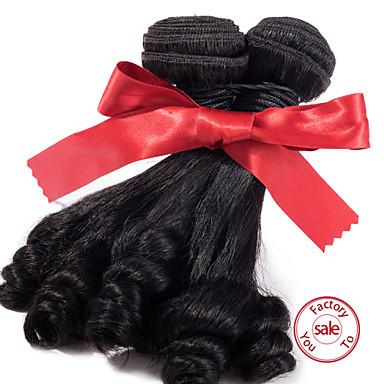 EVET Brazilian Sexy Natural Black Aunty Funmi Hair 1pcs 100% Brazilian Unprocessed Aunty Funmi hair Bouncy
