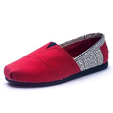 Mulheres Sapatos Lona Primavera / Verão / Outono Conforto Sem Salto # 7 / # 8 / Coral