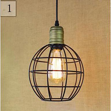 Lampe suspendue ,  Traditionnel/Classique Rustique Rétro Retro Peintures Fonctionnalité for LED MétalSalle de séjour Chambre à coucher