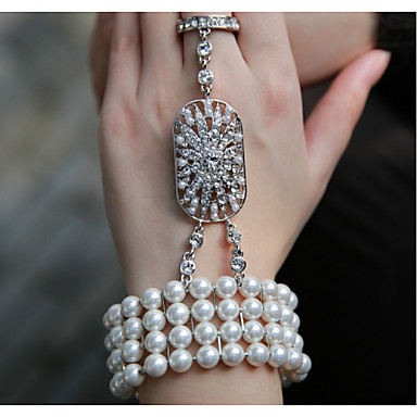 Chain Bracelet Vintage Party Work Casual Pearl Imitation Pearl Alloy Jewelry Party Costume Jewelry