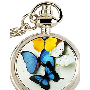Femme Montre de Poche Montre Pendentif Quartz Alliage Bande Papillon