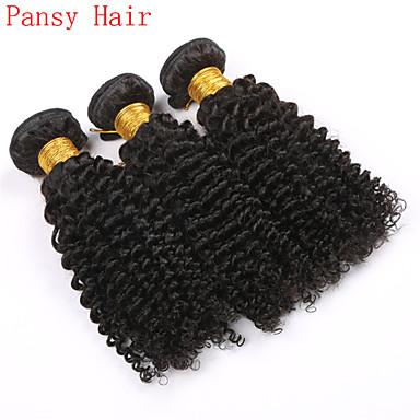 Kinky Curly Natural Black Color Virgin Indian Curly Hair Bundles Human Hair Extension