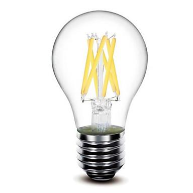abordables Ampoules électriques-1pc 5 W Ampoules à Filament LED 500 lm E26 / E27 G60 6 Perles LED COB Intensité Réglable Blanc Chaud 220-240 V 110-130 V / 1 pièce / RoHs / LVD