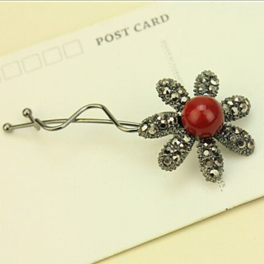 Clips Hair Accessories Rhinestones Wigs Accessories Women's pcs 6-10cm cm Daily Classic High Quality