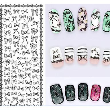 Autocolantes de Unhas 3D - Abstracto / Adorável / Casamento - para Dedo - de Outro - com 1 - 16X7X0.1