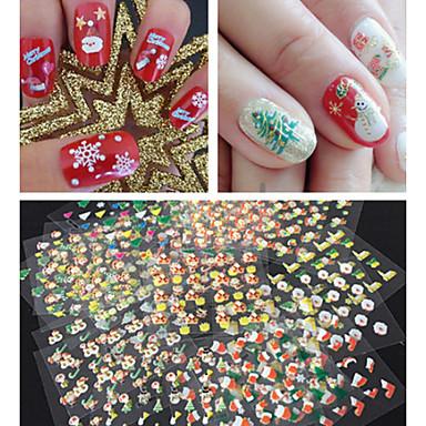 30 pcs 3D Nails Nagelaufkleber Nagel Kunst Maniküre Pediküre lieblich Abstrakt / Zeichentrick / Modisch Alltag / 3D Nagel Sticker