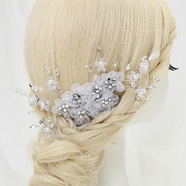 Imitation Pearl Rhinestone Alloy Headbands 1 Wedding Special Occasion Birthday Party / Evening Headpiece