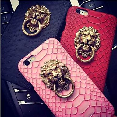 aslan kafası yılan derisi deseni geri kickstand artı iphone 6s 6 için kapak