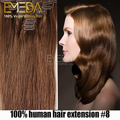 haute qualité 70g cheveux brazilian 7pcs / set pince afro-américaine dans les extensions de cheveux humains 14 « » - 22 « » multicolore