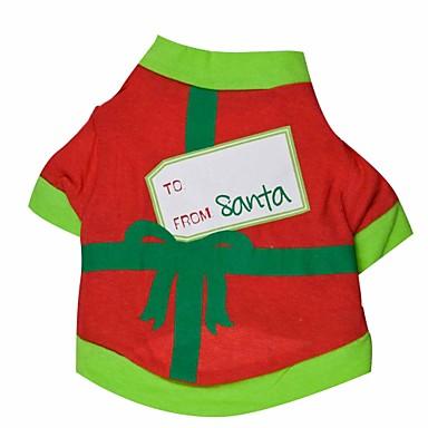 Kat Hund Kostume Trøye/T-skjorte Hundeklær Svart/Rød Grønn/Rød Bomull Kostume For kjæledyr Herre Dame Cosplay Jul Halloween