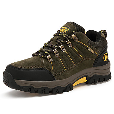 Homme Chaussures Similicuir Printemps Automne Confort Randonnée Lacet pour De plein air Gris Kaki Vert foncé