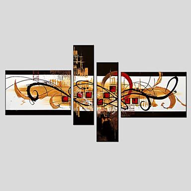 Hang-Ölgemälde Handgemalte - Abstrakt Europäischer Stil Modern Segeltuch
